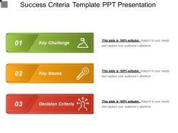 Success Criteria Template Ppt Presentation