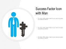 Success Factor Icon With Man