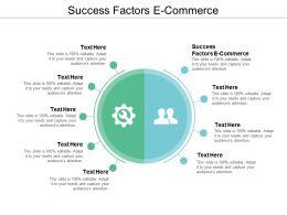 Success Factors E Commerce Ppt Powerpoint Presentation Infographics Structure Cpb