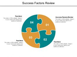 Success Factors Review Ppt Powerpoint Presentation Gallery Icon Cpb