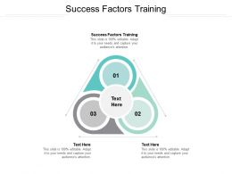 Success Factors Training Ppt Powerpoint Presentation Styles Deck Cpb