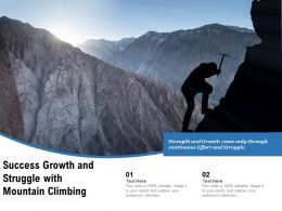 Success Growth And Struggle With Mountain Climbing