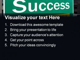 Success Highway Signpost Business PowerPoint Templates And PowerPoint Backgrounds 0311  Presentation Themes and Graphics Slide02