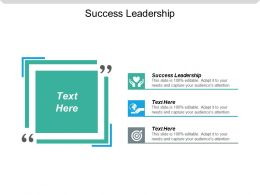 Success Leadership Ppt Powerpoint Presentation Gallery Infographics Cpb