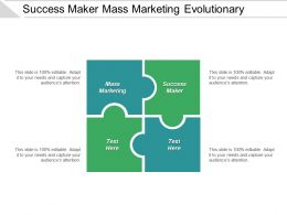 Success Maker Mass Marketing Evolutionary Timeline Looking Forward Cpb