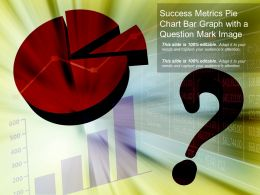 Success Metrics Pie Chart Bar Graph With A Question Mark Image
