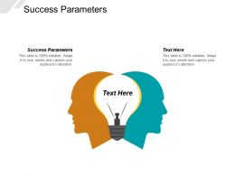 Success Parameters Ppt Powerpoint Presentation Layouts Gridlines Cpb
