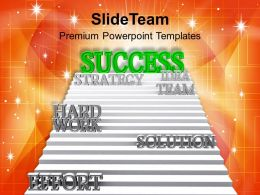 Success Path On Ladder Powerpoint Templates PPT Themes And Graphics 0113