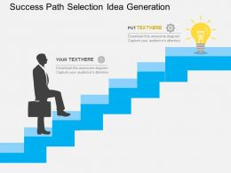 success_path_selection_idea_generation_flat_powerpoint_design_Slide01