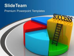 Success Pie Chart Business Concept Powerpoint Templates Ppt Themes And Graphics 0313