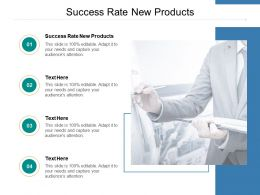 Success Rate New Products Ppt Powerpoint Presentation Pictures Clipart Cpb