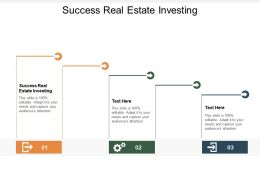 Success Real Estate Investing Ppt Powerpoint Presentation Topics Cpb