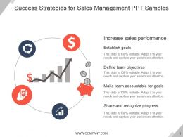 Success Strategies For Sales Management Ppt Samples
