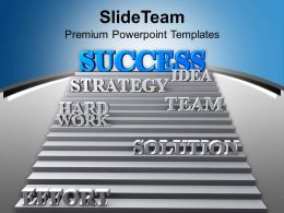 Success Strategy Team Effort Leads Solution Powerpoint Templates Ppt Themes And Graphics 0213