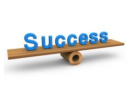 Success Text On Balance Stock Photo
