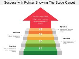 Success With Pointer Showing The Stage Carpet