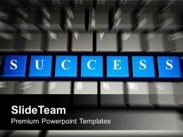 Success Word On Keyboard Computer Powerpoint Templates Ppt Themes And Graphics 0313