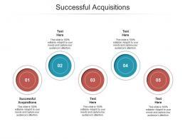 Successful Acquisitions Ppt Powerpoint Presentation Portfolio Diagrams Cpb