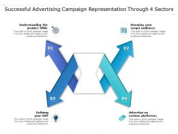Successful Advertising Campaign Representation Through 4 Sectors