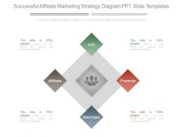 Successful Affiliate Marketing Strategy Diagram Ppt Slide Templates