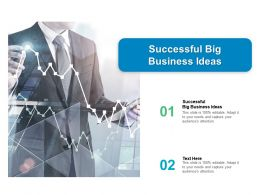 Successful Big Business Ideas Ppt Powerpoint Presentation Inspiration File Formats Cpb