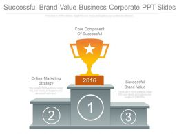 Successful Brand Value Business Corporate Ppt Slides
