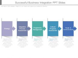 Successful Business Integration Ppt Slides