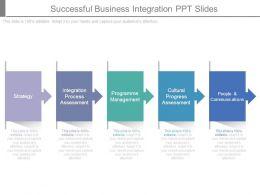 Successful Business Integration Ppt Slides