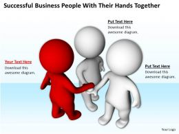 Successful Business People With Their Hands Together Ppt Graphics Icons Powerpoint