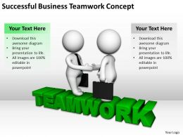 Successful Business Teamwork Concept Ppt Graphics Icons Powerpoint
