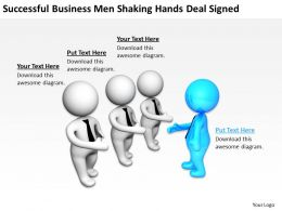 Successful BusinessMen Shaking Hands Deal Signed Ppt Graphics Icons Powerpoint