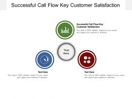 Successful Call Flow Key Customer Satisfaction Ppt Presentation Ideas Example Cpb