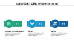 Successful CRM Implementation Ppt Powerpoint Presentation Show Tips Cpb