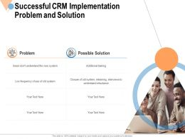Successful CRM Implementation Problem And Solution Ppt Powerpoint File Portfolio