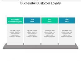 Successful Customer Loyalty Ppt Powerpoint Presentation Gallery Deck Cpb
