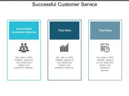 Successful Customer Service Ppt Powerpoint Presentation Layouts Design Templates Cpb