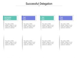 Successful Delegation Ppt Powerpoint Presentation Slides Graphics Cpb
