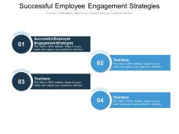 Successful Employee Engagement Strategies Ppt Powerpoint Presentation Professional Clipart Cpb