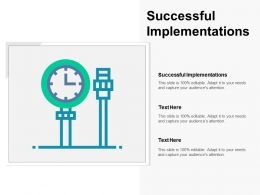 Successful Implementations Ppt Powerpoint Presentation Gallery Inspiration Cpb