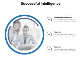 Successful Intelligence Ppt Powerpoint Presentation Model Structure Cpb