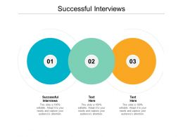 Successful Interviews Ppt Powerpoint Presentation Infographics Backgrounds Cpb