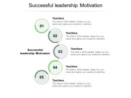 Successful Leadership Motivation Ppt Powerpoint Presentation File Topics Cpb