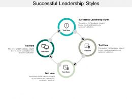 Successful Leadership Styles Ppt Powerpoint Presentation Ideas Influencers Cpb