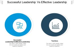 Successful Leadership Vs Effective Leadership Ppt Powerpoint Presentation Pictures Cpb