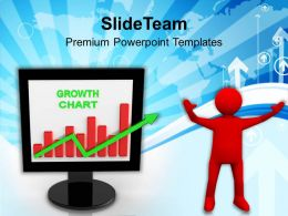 Successful Man Showing Growth In Business Chart Powerpoint Templates Ppt Themes And Graphics 0113