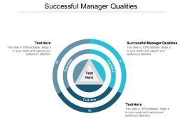 Successful Manager Qualities Ppt Powerpoint Presentation Outline Sample Cpb
