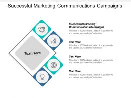 Successful Marketing Communications Campaigns Ppt Powerpoint Presentation Icon Layouts Cpb