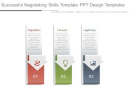 Successful Negotiating Skills Template Ppt Design Templates