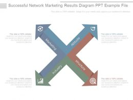 Successful Network Marketing Results Diagram Ppt Example File