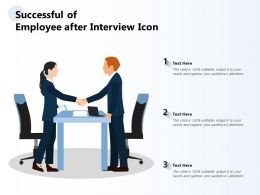 Successful Of Employee After Interview Icon